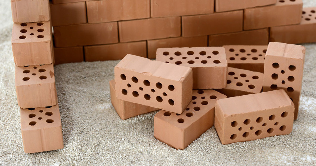 Bricks used in residential construction