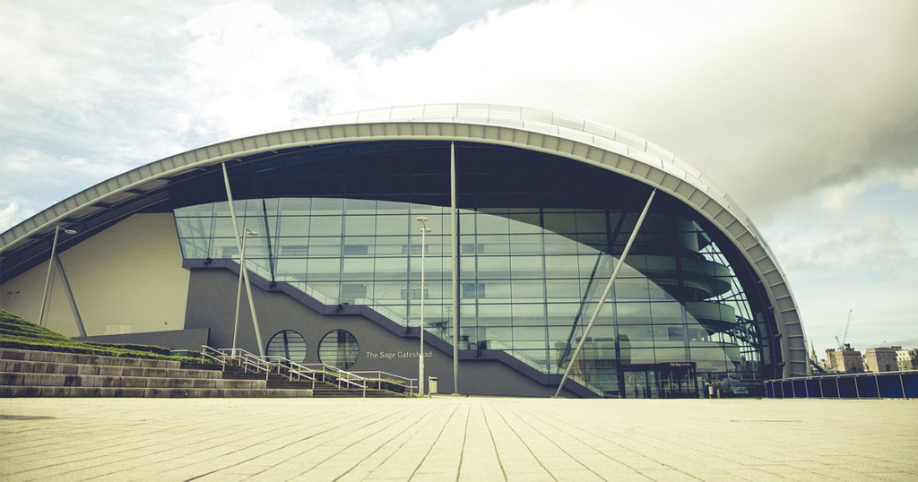 Side view of Gateshead Sage