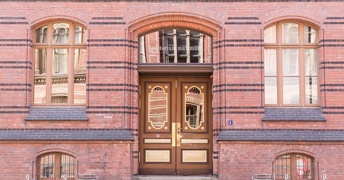 Commercial building doorway